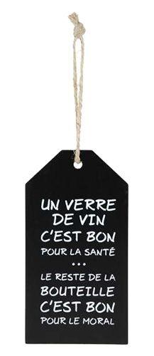 ETIQUETTE A BOUTEILLE DE VIN : Etiquette à bouteille de vin fait de bois, Un verre de vin.