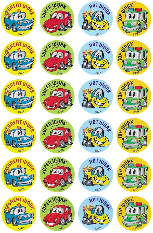Crazy Cars Merit Stickers.  96 brightly coloured cars stickers to reward or decorate.  - See more at: http://www.teachersuperstore.com.au/product/machines/crazy-cars-merit-stickers/#sthash.60UXqduv.dpuf
