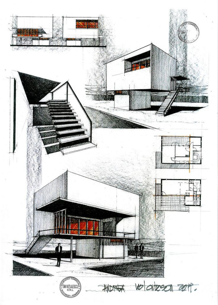 463 best sketching rendering architectural drawings for Architecture house drawing