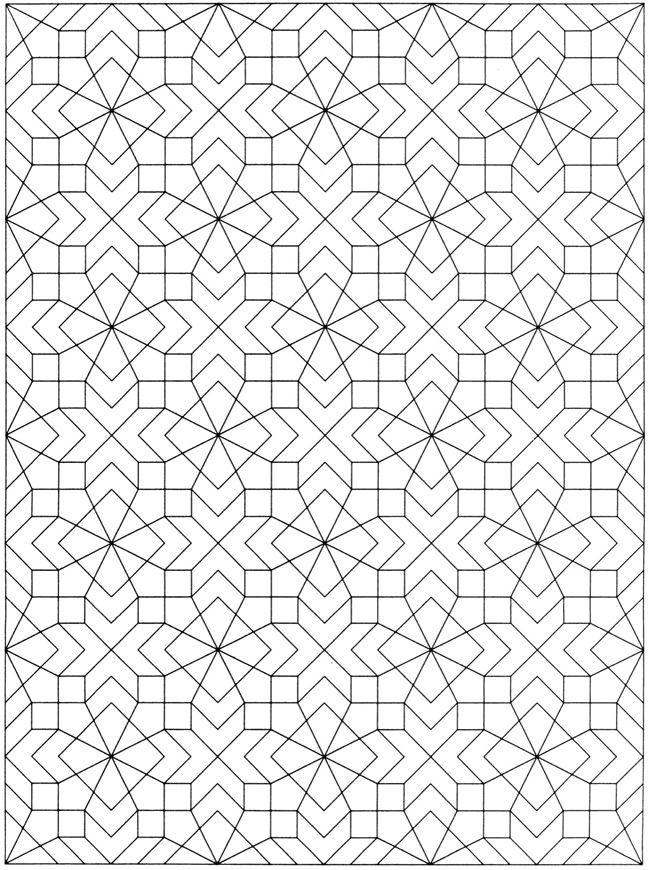 Welcome to Dover Publications / Creative Haven Geometric Allover Patterns Coloring Book / Ian O. Angell