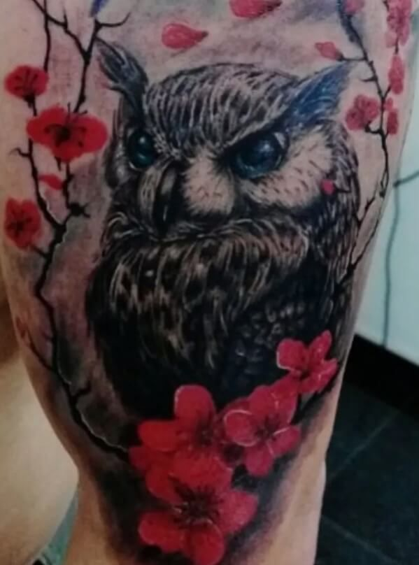 12 Japanese Owl Tattoo Designs And Ideas Petpress In 2020 Owl Tattoo Design Owl Tattoo Feather Tattoo Design
