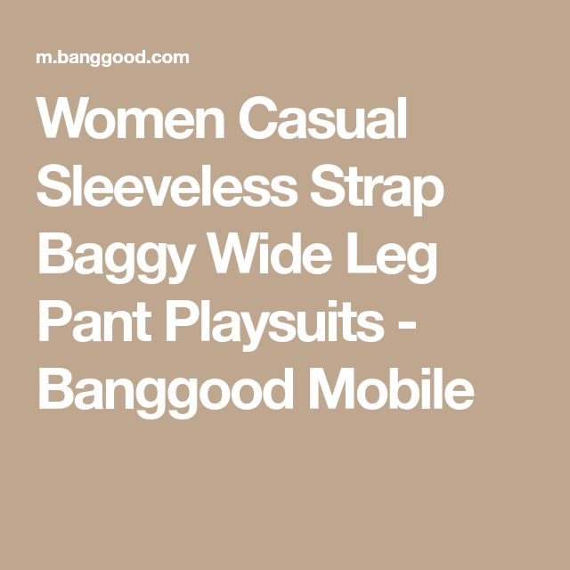 Women Casual Sleeveless Strap Baggy Wide Leg Pant Playsuits - Banggood Mobile