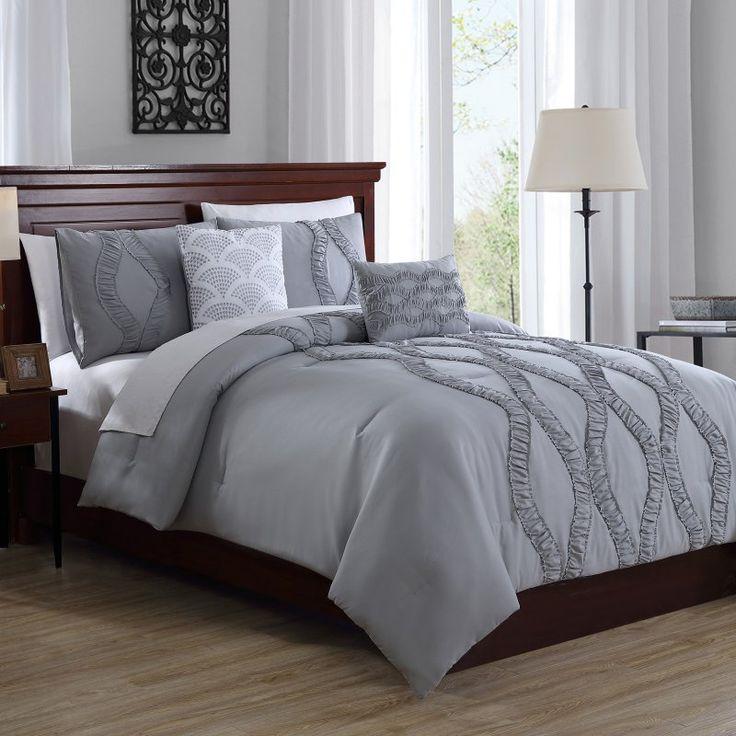 Megan 5 Piece Comforter Set by White Birch Deep Silver - 17211703BH-DSL-ECO