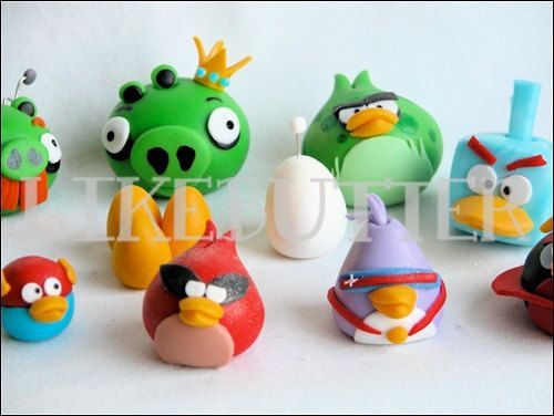 253 best angry birds images on pinterest bird party birthdays and 3d fondant space angry buddies cakecupcake toppers by likebutter voltagebd Images