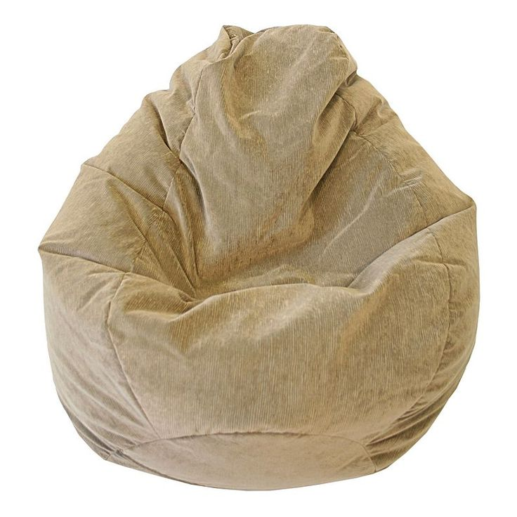 Large Teardrop Microfiber Faux Suede Corduroy Bean Bag Chair