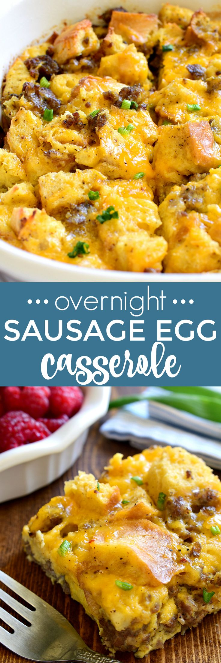This Overnight Sausage Egg Casserole is a delicious addition to any breakfast! Perfect for holidays or special occasions, this easy egg casserole can be prepped in advance and popped in the oven the next morning. Your family will love the simple, delicious flavors of this classic egg casserole....guaranteed to become a favorite!