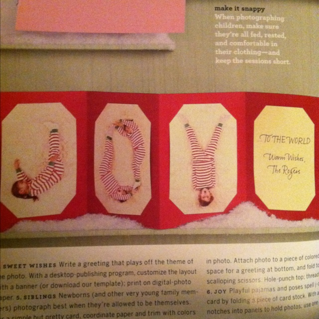 Christmas card idea from Martha Stewart Living