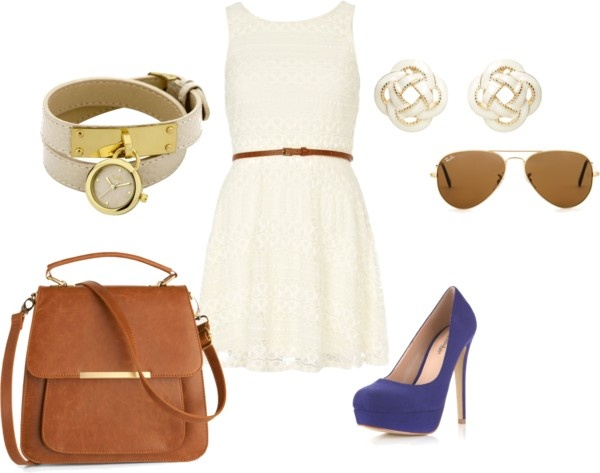 Neutrals with a pop of color.