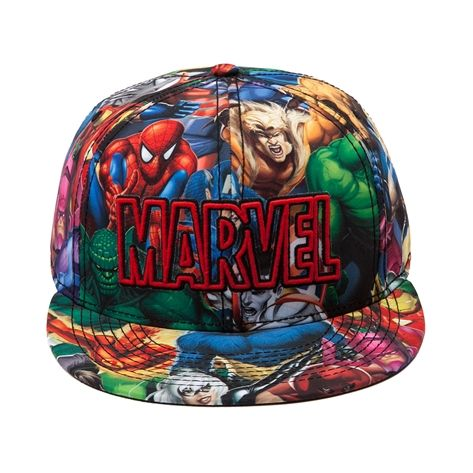 Shop for Marvel Allover Hat in Multi at Journeys Shoes. Shop today for the hottest brands in mens shoes and womens shoes at Journeys.com.Marvels greatest heroes come together in full force on this stylish superhero hat. The Marvel Hat features a collage of superhero graphics with front embroidered Marvel text. Available for shipment in November; Pre-order yours today!