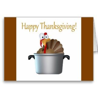 Funny Turkey, Happy Thanksgiving Day Card