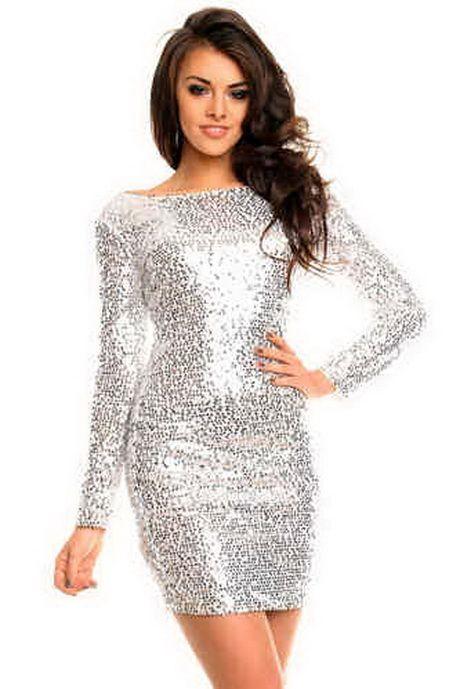 Silbernes kleider | Silvester outfit damen, Cocktailkleid ...