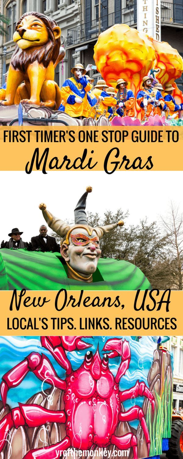 Visiting New Orleans, USA for Mardi Gras celebrations for the first time? Read these Mardi Gras tips from locals and previous visitors for information on New Orleans hotel, dressing, Mardi Gras parade schedules, do's and don'ts and favorite floats!