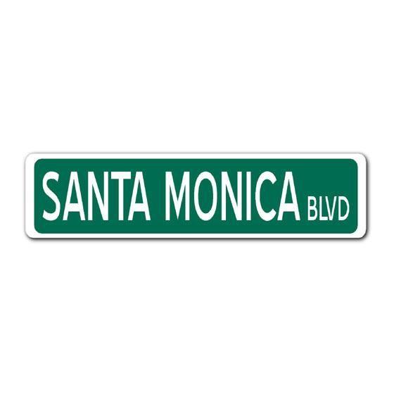 Home Decor Santa Monica Street Sign Google Search