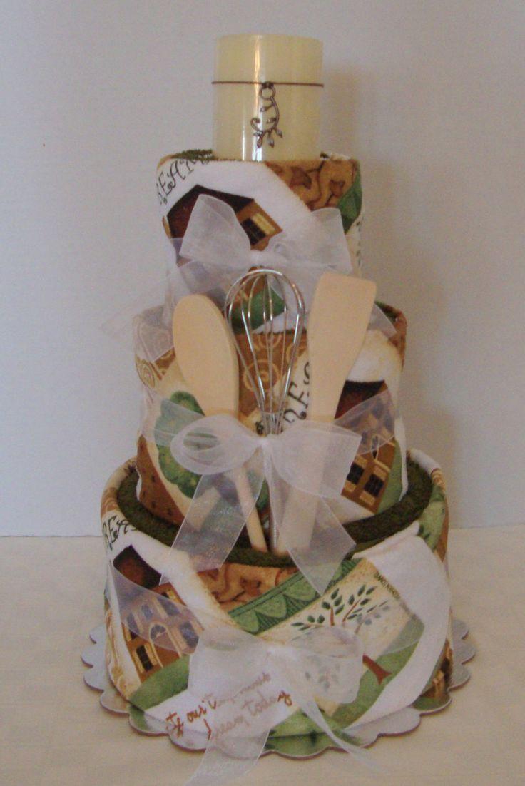 Housewarming Gift Towel Cake Shower Gift by arizonababycakes