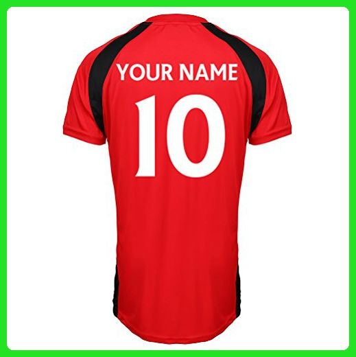 Manchester United Official Personalised Club Merchandise Your Name Number Here Football Soccer Training Top For Adults Junior Children Kids England Match Birthday Gift Present Custom Print For Any Fan - Birthday shirts (*Amazon Partner-Link)