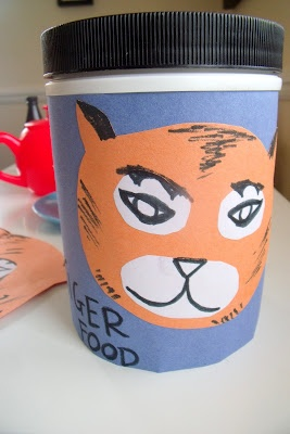 The Tiger Who Came To Tea craft ideas. Lovely (UK) website too.