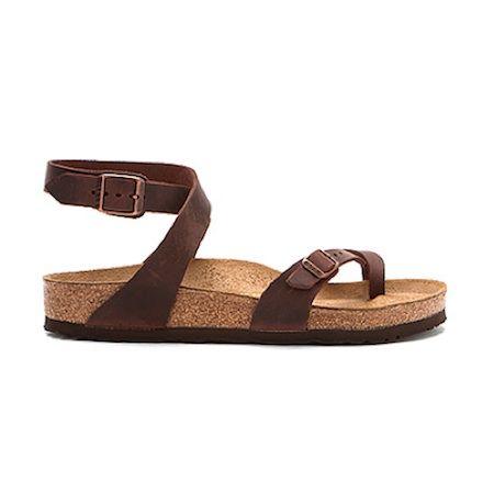 Birkenstock – Habana Yara Leather Sandal.