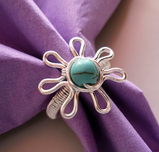 DIY Blue Forget Me Not Ring