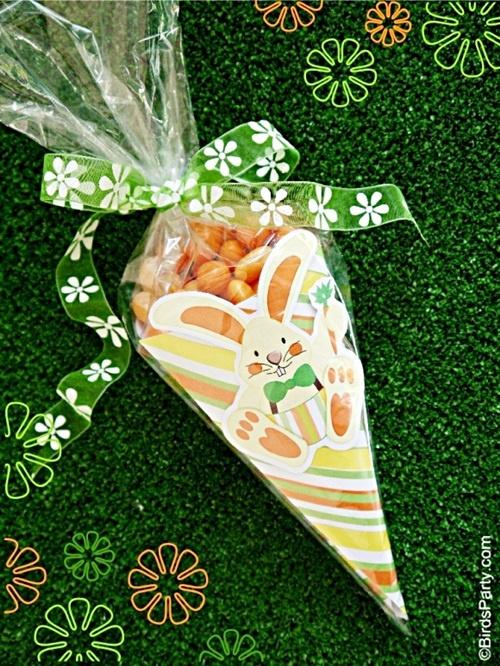 Manualidades para Pascua: cucuruchos de chuches