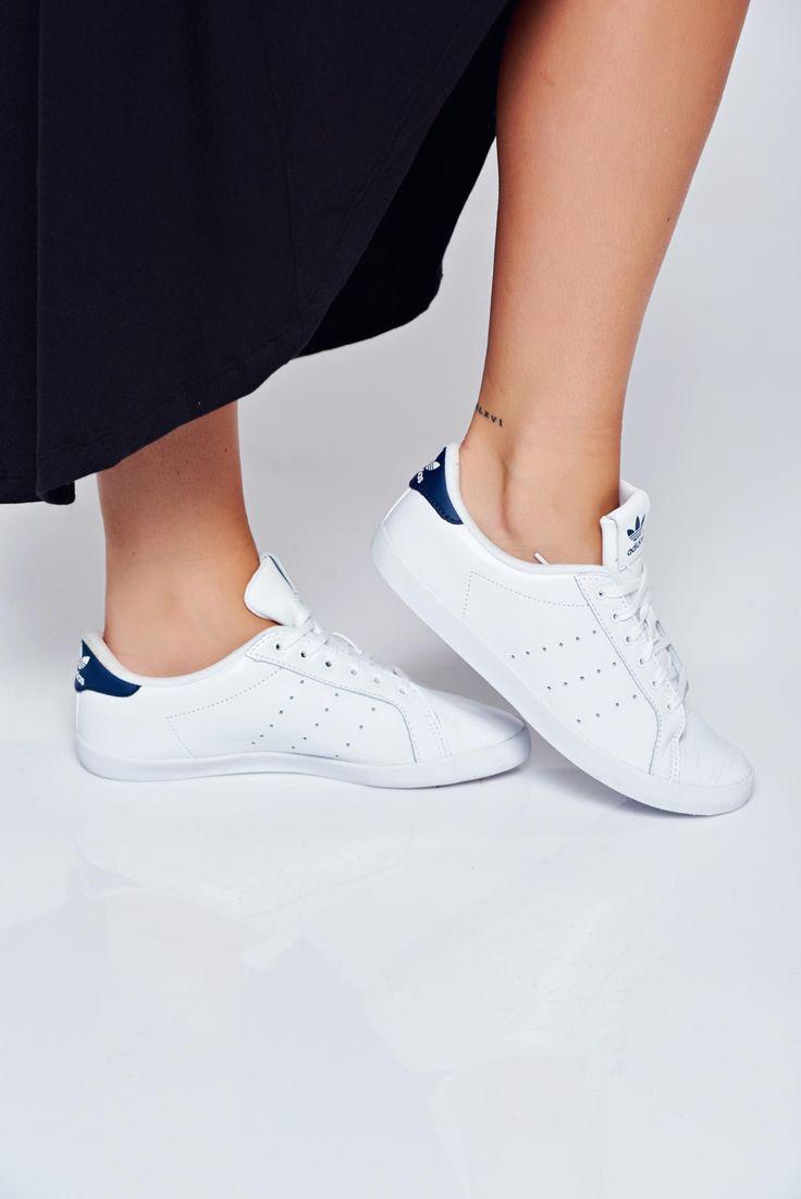 Comanda online, Pantofi sport Adidas Originals Stan Smith albi casual cu talpa usoara. Articole masurate, calitate garantata!