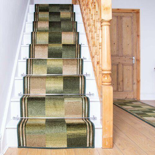 Best Almeida Twist Pile Green Stair Runner Rosalind Wheeler Rug 640 x 480