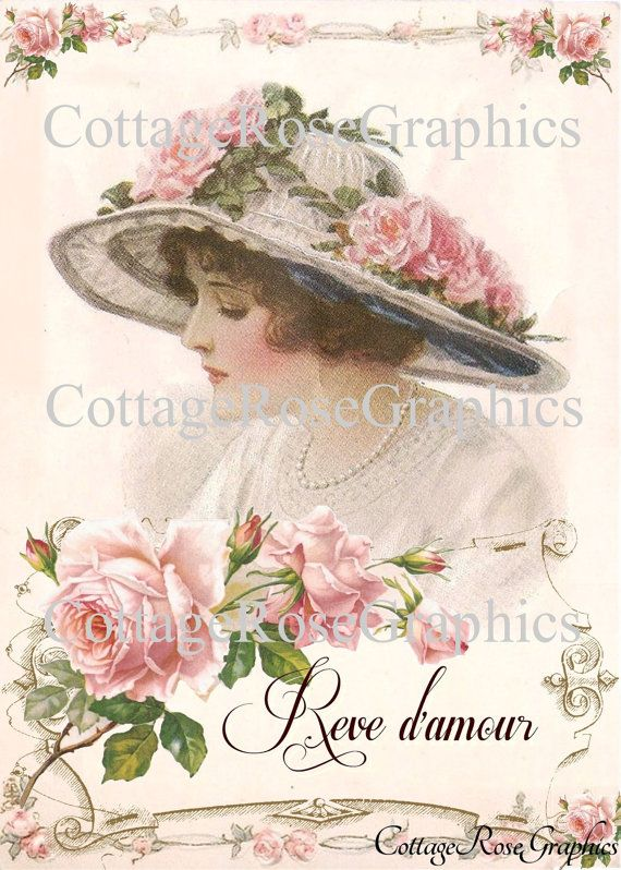 Large digital download French Dreams of by CottageRoseGraphics, $3.95