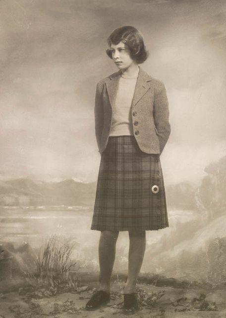 Princess Elizabeth wearing a kilt, 9 April 1940 by Marcus Adams