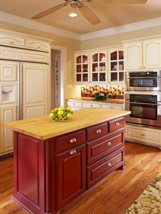 Red Kitchen Backsplash Design, Pictures, Remodel, Decor and Ideas