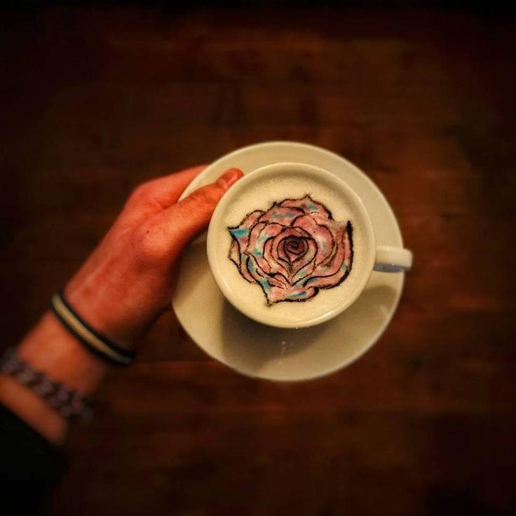 Rose in a cup #Romania #instacoffee#foodart#latteart#foodporn#latteartsg#latteartist#vegan#bonsoy#baristaespresso#latte#lattegram#lattestagram#coffeelover#coffeeoftheday#coffeegram#thirsty#talkaboutcoffee#masfotokopi#latteartgram#baristadaily#thetrendybarista#coffeeshots#morningculture#barasian#coffeeeee#peoplebrewcoffee#rose#roselatte