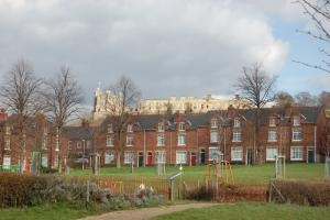 Bolsover Castle and Bolsover mining village, recorded in the Victoria County History project