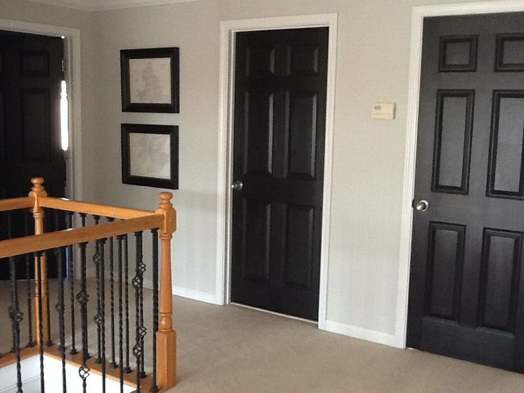 Renae Moore Designs Project Monday I Like The Look Of Black Doors With White Paint Interior