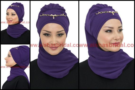 Ready To Wear Hijab  Code: HT-0213 Hijab Muslim by HAZIRTURBAN
