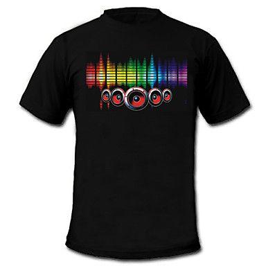 suono e la musica attivato el t-shirt ballerino visualizzatore vu spettro (2 * aaa) del 83397 2016 a €13.71
