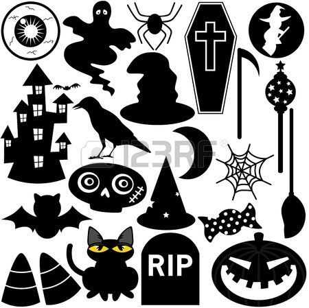 Festival de Halloween tema, los iconos o elementos de diseño silueta photo