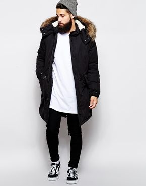 Enlarge ASOS Fishtail Parka With Thinsulate