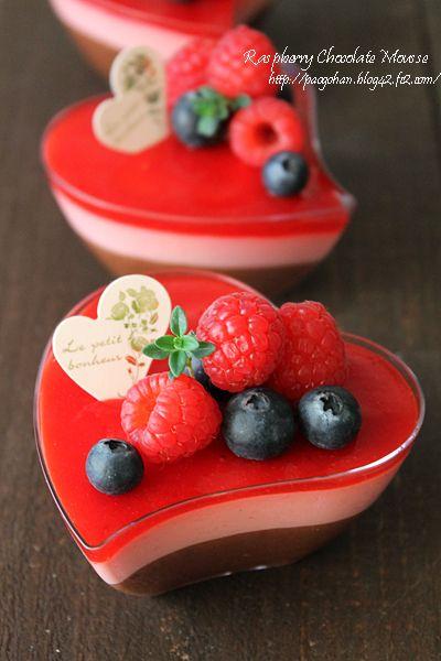 フレッシュラズベリーチョコムース☆Cottaさんとおうちカフェタイム - ぱおのおうちで世界ごはん☆