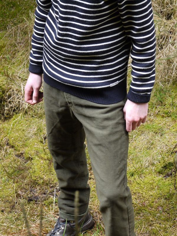 Olive Moleskin Trousers