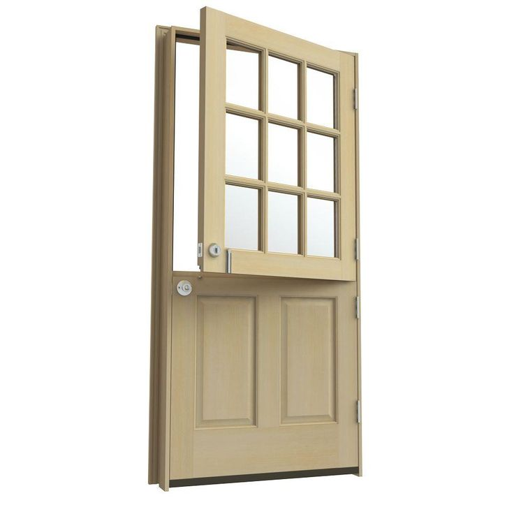 36 In X 80 In 9 Lite Unfinished Dutch Hemlock Wood Prehung Front Door With Brickmould Home