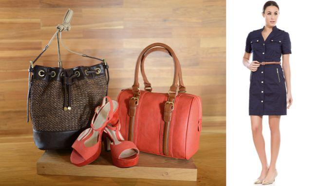 Cortefiel Costa Rica: Para las mujeres que buscan comodidad sin perder el toque TRENDY, cortefiel ofrece la opción de vestidos camiseros en tonos básicos como el marino para combinar con cinturón, bolso y sandalias en contraste.