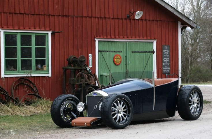 Volvo Hot Rod....looks like a life size pinewood derby car.