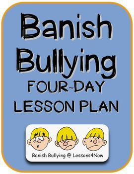FREE ANTI-BULLYING LESSON PLANS~  This four-day lesson plan can be implemented with very little preparation. Each lesson takes about 20 minutes and centers on class discussions of various free-access, online videos with anti-bullying themes.