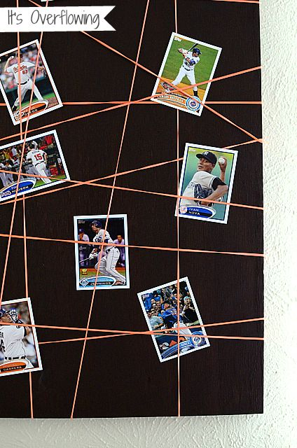 Simple DIY project to display your photos using rubber bands.