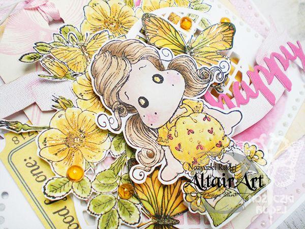 Nozyczki Rudej 172 Stemplowane Kwiaty
