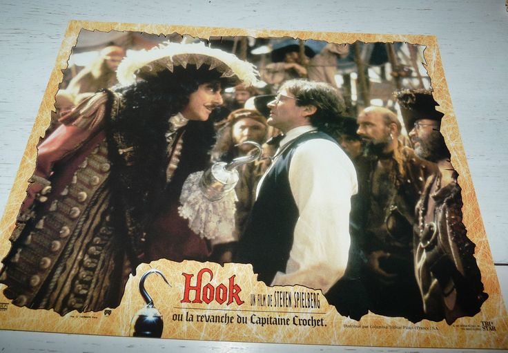 Dustin Hoffman as Captain Hook and Robin Williams as Peter Banning/Peter Pan - Hook, 1991