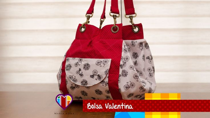 Bolsa mochila de tecido Valentina. DIY. Fabric bag and backpack. Fabric ...