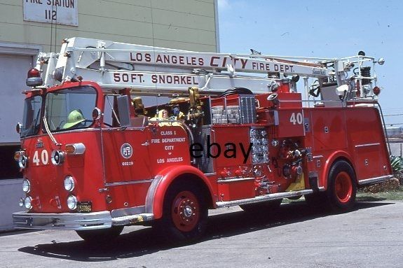 Los Angeles CA Engine 40 - 1970 Crown Fire Coach 50' SNKL - Fire Apparatus Slide