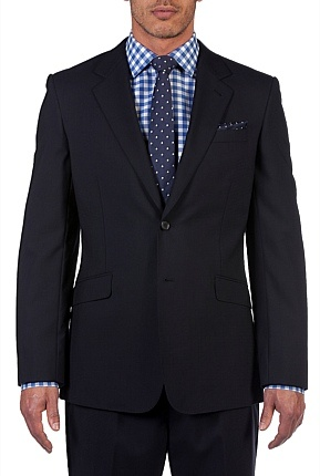 Tailored Shadow Grid Jacket