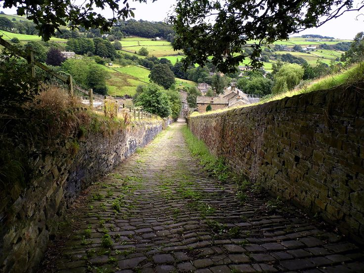 Taken whilst walking in one of my favourite places the village of Luddenden. The cobbled lane runs down the hill from the direction of Midgeley towards the centre of Luddenden.