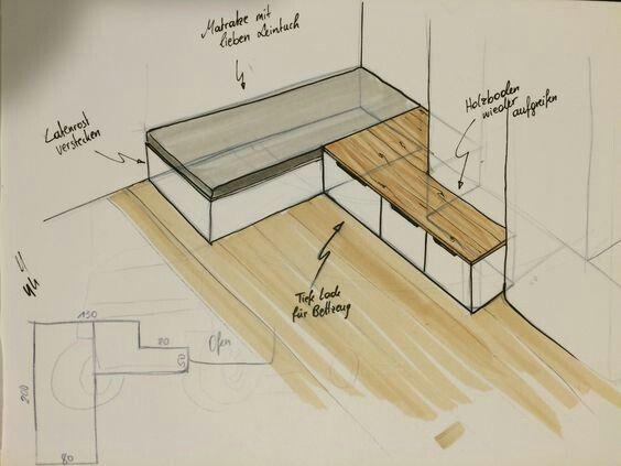 Kamin Sitz und Bettdecke