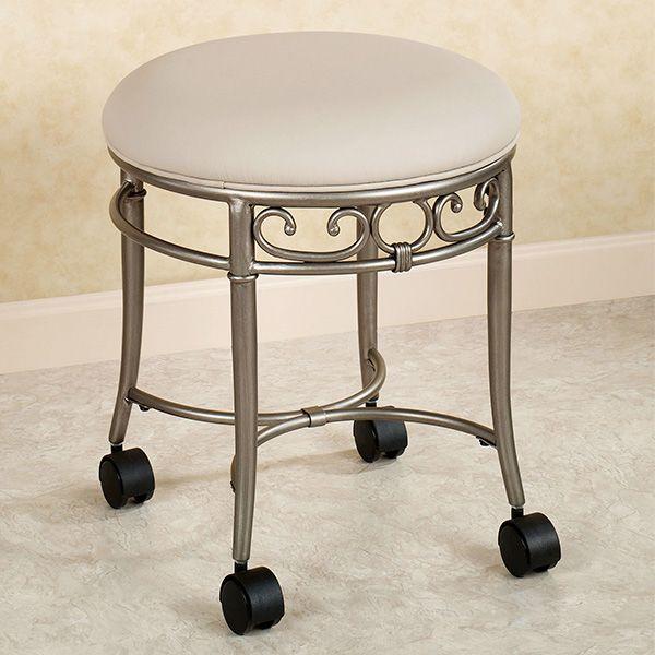 Mcclare Vanity Stool Vanity Stool Bathroom Vanity Chair Stool With Wheels Vanity stool on wheels
